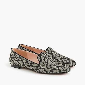 J.Crew Leopard smoking slippers