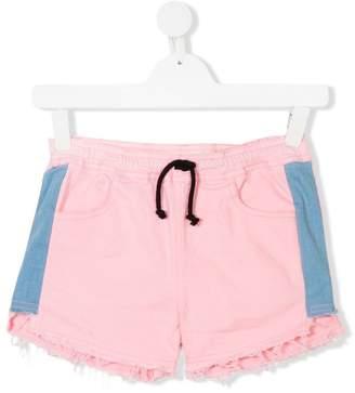 Andorine TEEN side panel denim shorts