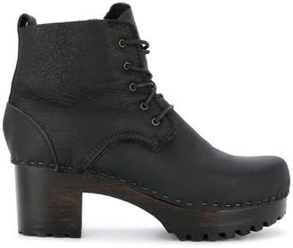 No.6 lace-up heeled boots