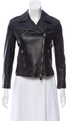 Valentino Leather Graphic Heart Jacket