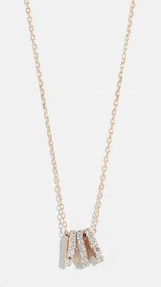 Adina 14k Tiny 3 Pavé Beads Necklace