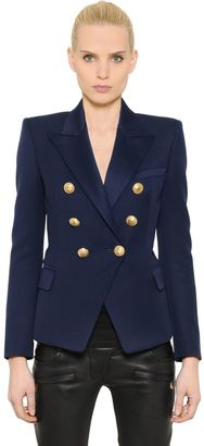 Double Breasted Wool Twill Jacket $1,615 thestylecure.com