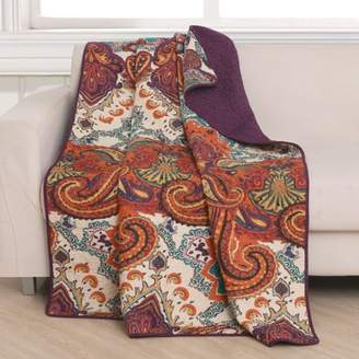 Global Trends Nova Spice Quilted Throw Blanket, 50x60-inch