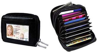 LACASA Identity Safe Double Zippered Accordion Wallet