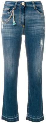 Elisabetta Franchi cropped high waisted jeans