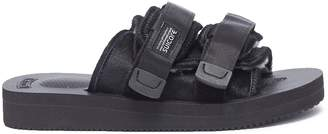 Suicoke 'MOTO-VHL' strappy band calf fur slide sandals