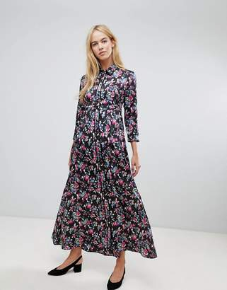 Max & Co. Max&Co Maxi Floral Shirt Dress