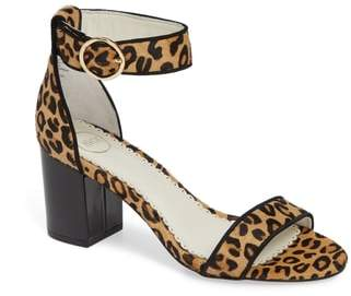 1901 Ellery Leopard Print Genuine Calf Hair Ankle Strap Sandal