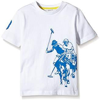 U.S. Polo Assn. Unisex Child DBL Horse Ss T-Shirt,Size 2