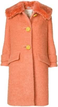 Miu Miu shearling coat with exaggerated collar
