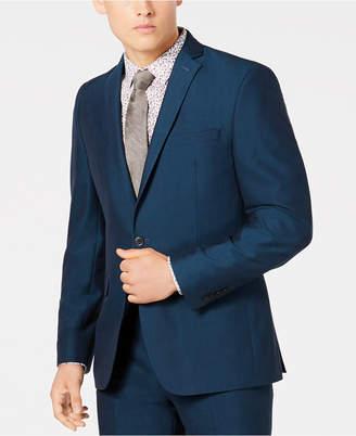 Bar III Men's Slim-Fit Stretch Teal Suit Jacket