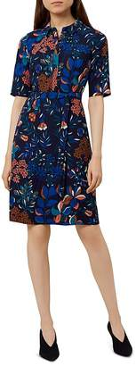 Hobbs London Dahlia Botanical Print Shirt Dress