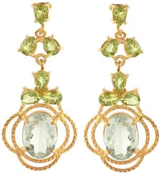Carousel Jewels - Peridot & Topaz Statement Earrings