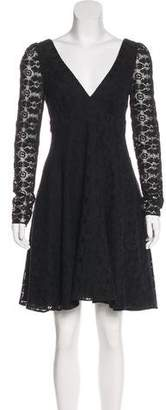 Tibi Lace A-Line Dress