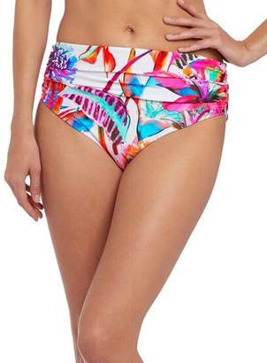 Fantasie Paradise Bay Deep Gather Bikini Bottom, S, Floral