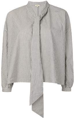 Bellerose striped scarf shirt
