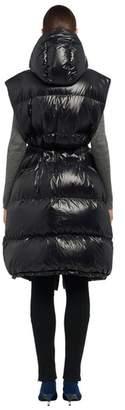 Prada Cire Nylon Hoodie Puffer Vest With Hood