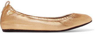 Lanvin - Metallic Leather Ballet Flats - Gold $550 thestylecure.com