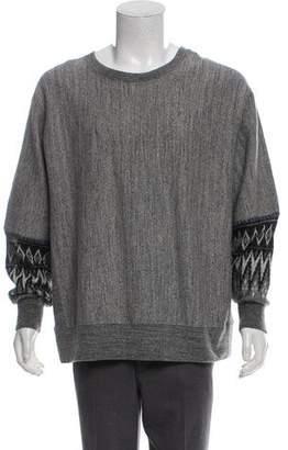 Facetasm Fair Isle-Accented Scoop Neck Sweatshirt