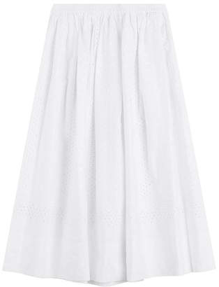 Vanessa Bruno Cotton Skirt with Embroidery