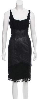 Diane von Furstenberg Olivette Lace-Embellished Knee-Length Dress w/ Tags