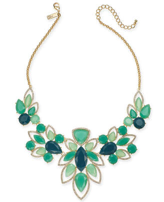 """INC International Concepts Inc Crystal & Stone Statement Necklace, 16"""" + 3"""" Extender"""