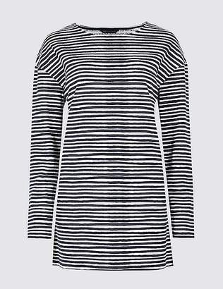 Marks and Spencer Striped Round Neck Long Sleeve Top
