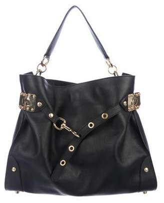 Miu Miu Leather Belted Tote Black Leather Belted Tote