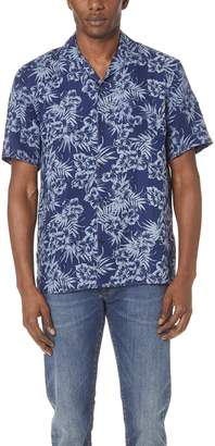 Club Monaco Short Sleeve Hawaiian Shirt