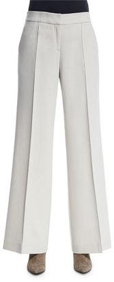Lafayette 148 New York Kenmare Flare-Leg Pants, Oro $498 thestylecure.com