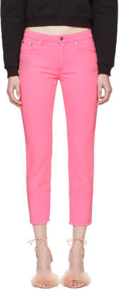 MSGM Pink Cropped Jeans