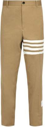 Thom Browne Mid-rise cotton chino trousers