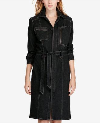 Polo Ralph Lauren Denim Utility Dress $298 thestylecure.com
