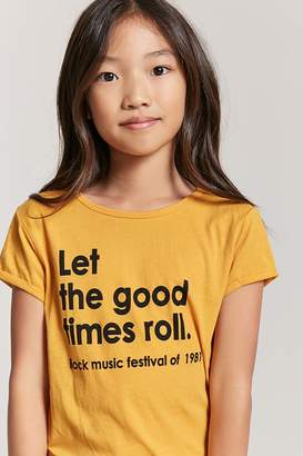 Forever 21 Girls Let The Good Times Roll Tee