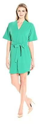 Lark & Ro Women's Kimono-Sleeve Crepe Shift Dress