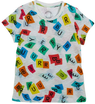 Burberry Confetti Logo-Print Short-Sleeve Tee, Size 6M-3