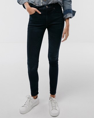 Express High Waisted Denim Perfect Stretch+ Performance Leggings