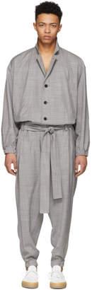 Issey Miyake Grey Wool Jumpsuit
