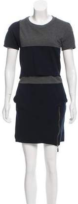 ICB Crew-Neck Short Sleeve Mini Dress