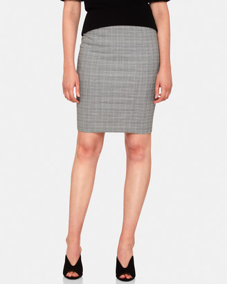 Oxford Monroe Check Suit Skirt