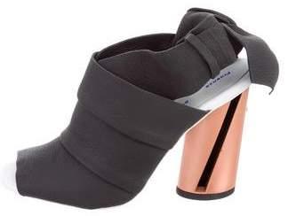 Proenza Schouler Nubuck Bow-Accented Sandals