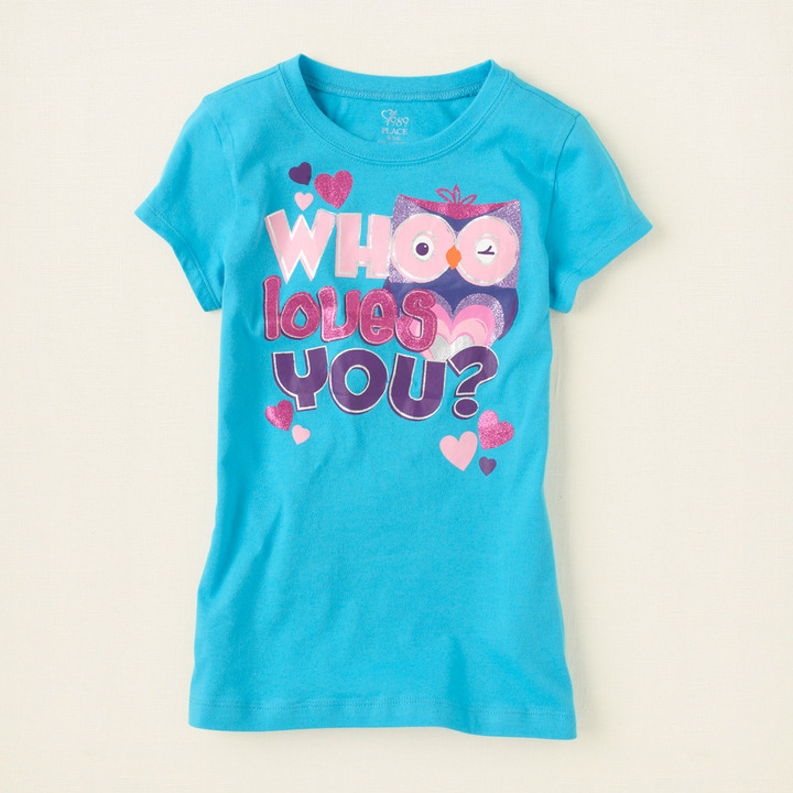 Children's Place Whoo loves you graphic tee
