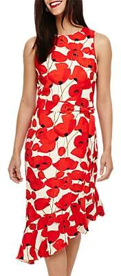 Phase Eight Dorothy Poppy Print Dress, Poppy/Buttermilk