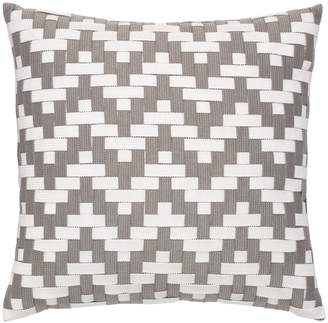 Elaine Smith Alabaster Basket Weave Indoor/Outdoor Accent Pillow