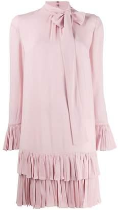 Valentino bow frilled dress