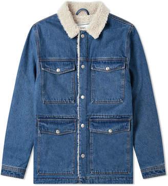 Ami Sherpa Lined Denim Jacket