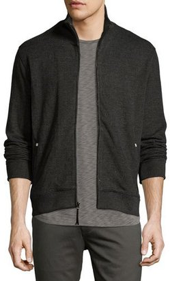 Billy Reid Ribbed Track Jacket, Charcoal $225 thestylecure.com