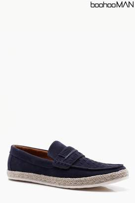 Next Mens Boohoo Man Weave Front Loafer