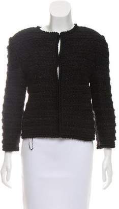 Giambattista Valli Bouclé Collarless Jacket