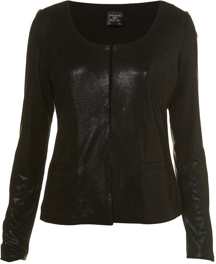 Kate Moss Wetlook Jersey Jacket